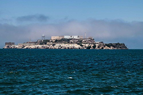 Gifts Delight Laminated 36x24 inches Poster: Alcatraz Prison Island San Francisco California USA Historically America Prison Island Sea Protest Crime Occupation Water Tower Cell Tract High Security