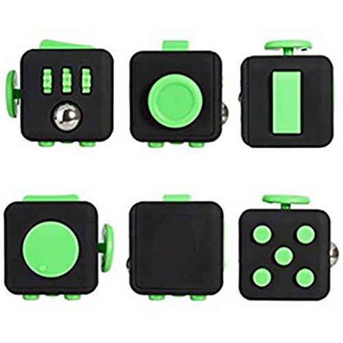 Xinzistar 2 Pcs Fidget Dice II Dice I Stress Release Office Toys Set for Children Adult Black 08 - 4