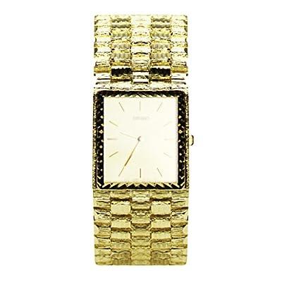 14k Yellow Gold Men's Nugget Watch by Italian Gold Inc