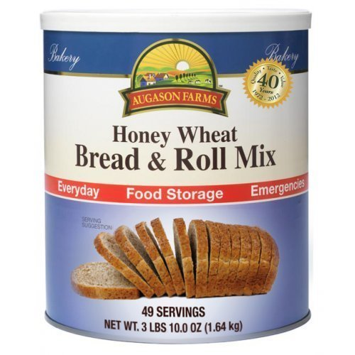 Augason Farms Honey Wheat Bread & Roll Mix #10 Can, 58 oz by Augason - Augason Honey Farms