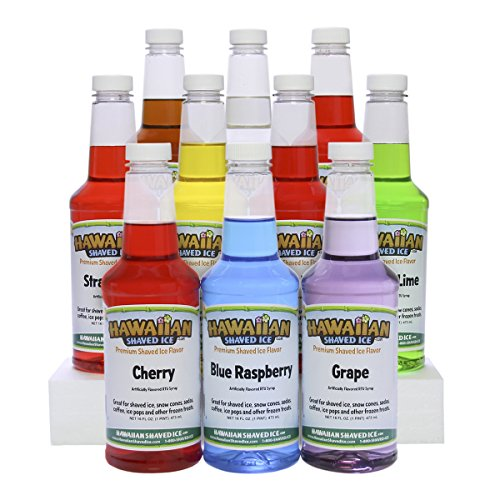 - Hawaiian Shaved Ice Syrup 10 Pack, Pints