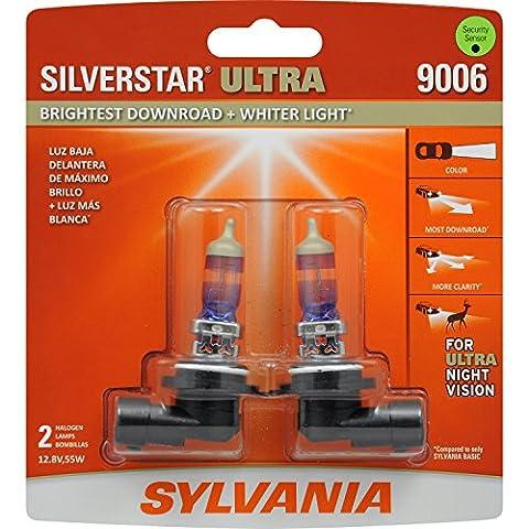 SYLVANIA 9006 SilverStar Ultra High Performance Halogen Headlight Bulb, (Contains 2 Bulbs) (08 Dodge Ram 1500 Headlights)