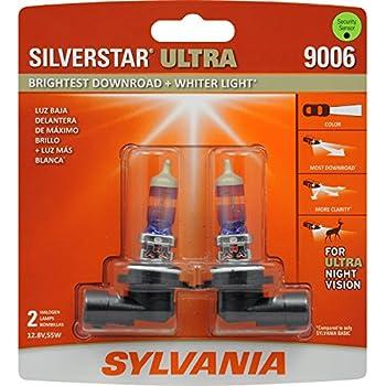 SYLVANIA 9006 SilverStar Ultra High Performance Halogen Headlight Bulb, (Contains 2 Bulbs)