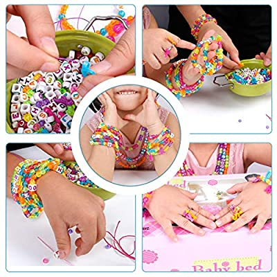 Liberty Imports ABC Beads & Charms Friendship Bracelet Jewelry Making Kit - Over 1000 Beads: Toys & Games