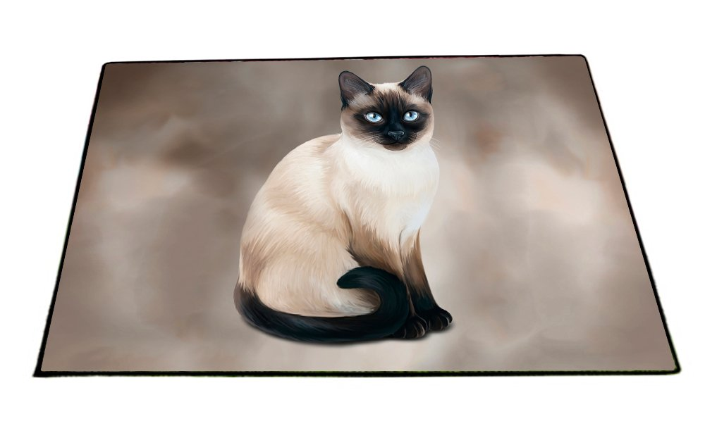 Thai Siamese Cat Indoor/Outdoor Floormat D061 (18x24) by Doggie of the Day