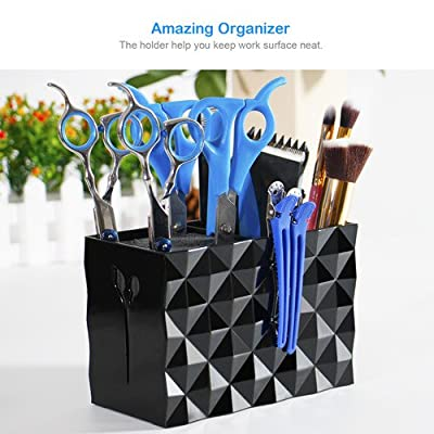 Double Case Stylish Scissors Holder for Salon Station, Barber Shop, Shears Rack for Pet Groomer, Hair Cutting Organizer - Good for Tips of Shears - Keeps Tools Right at Hand