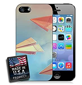 MMZ DIY PHONE CASEPaper Planes Blue Skies Pastel Painting iPhone 4/4s Hard Case