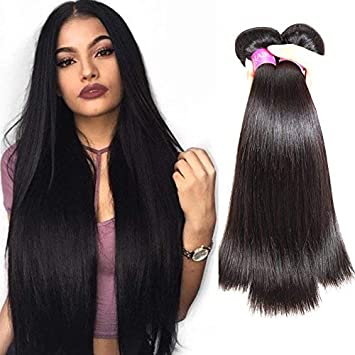 amazon isee hair 7a brazilian virgin straight hair 3 bundles 100