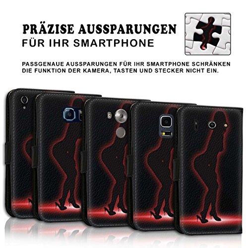 Wallet Book Style Flip Handy Tasche Case Schutz Hülle Schale Motiv Etui für Apple iPhone 4 / 4S - Design Flip MV125
