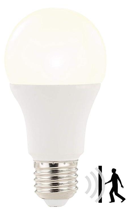 Luminea LED mit Bewegungsmelder: LED-Lampe mit Radar-Bewegungssensor, 12 W, E27, warmweiß, 3000 K (Leuchtmittel mit Bewegungs
