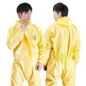 CYHX Ropa de protección química con Capucha, Cuerpo Anti ...