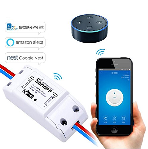LEEHUR Sonoff Smart Wifi Switch Wall Timer Switch Smartphone Remote Controller