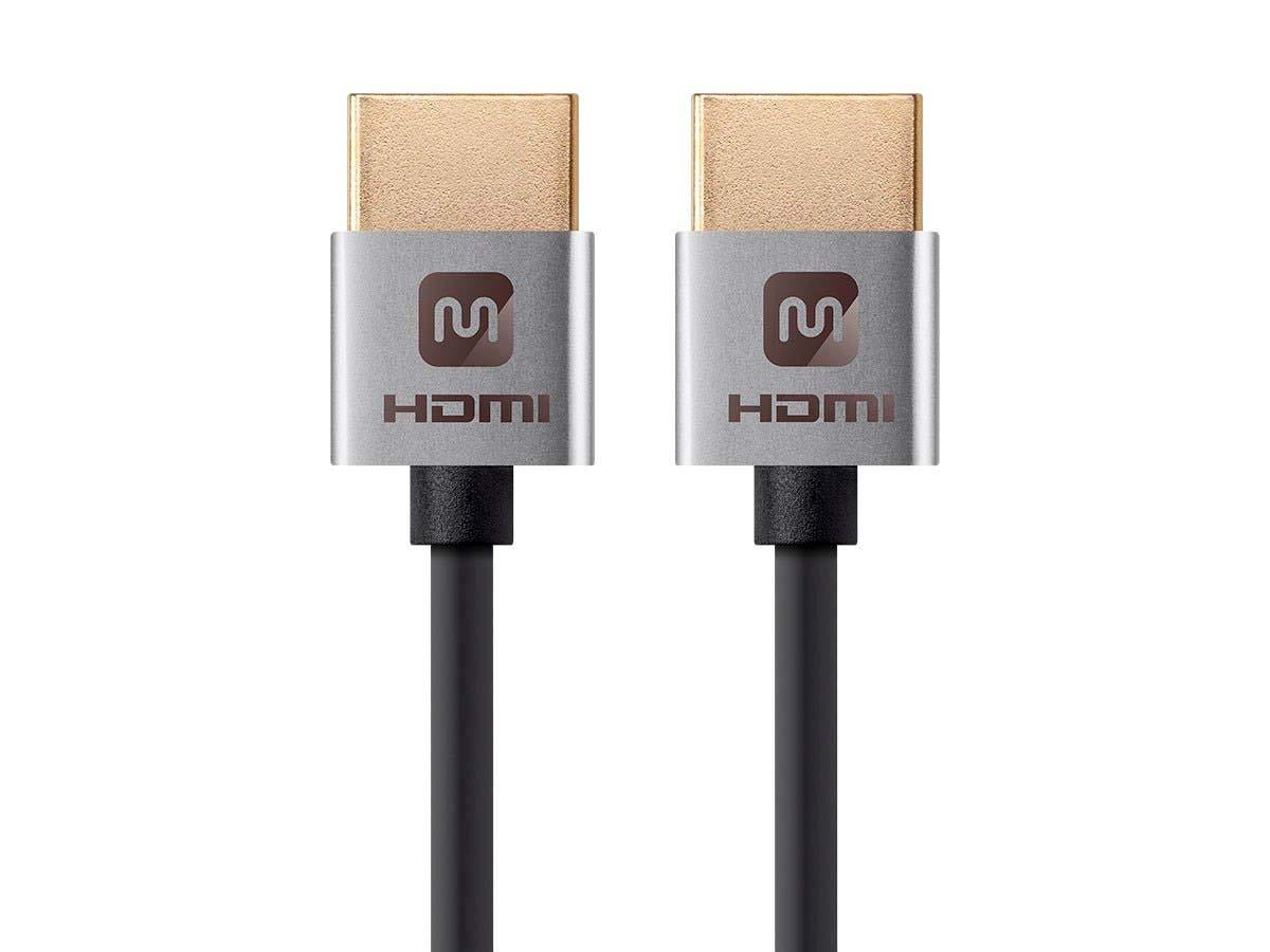Cable HDMI de alta velocidad Monoprice - 4 pies - Plateado, 4K @ 24Hz, 10.2Gbps, 36AWG, YUV, 4: 2: 0 - Serie Ultra Slim