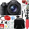 Sony DSC-HX400V/B 50x Optical Zoom Digital Camera + 64GB Memory Card, Battery & Accessory Bundle