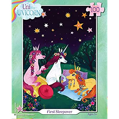 New York Puzzle Company - Uni The Unicorn First Sleepover - 100 Piece Jigsaw Puzzle: Toys & Games