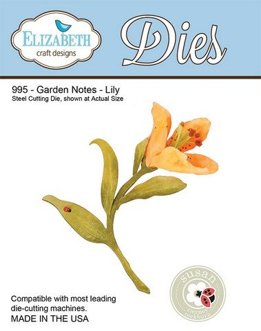 - Elizabeth Craft Designs Garden Notes Steel Cutting Die, Lily