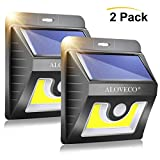 Solar Motion Lights Outdoor, Super Bright COB Wireless Waterproof Motion Sensor Outdoor Light and Solar Security Wall Lights for Porch Patio Yard Deck Fence Stairway Driveway, 2 Pack - ALOVECO