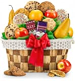Fresh Fruit and Cookies Gift Basket - Premium Gift Basket for Men or Women