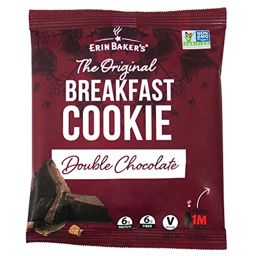 (Erin Baker's Breakfast Cookies, Double Chocolate, Whole Grain, Non-GMO, 3-ounce (Pack of 12))