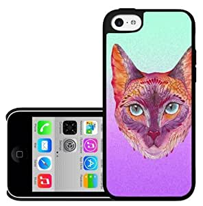 Water Color Kitten Hard Snap On Case (iPhone 5c)