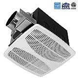 110 cfm bathroom fan - BV Ultra-Quiet 110 CFM, 1.3 Sones Bathroom Ventilation and Exhaust Fan