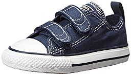 Converse Infant Chuck Taylor All Star V2 Ox Shoes, Size: 4 M US Toddler, Color: Athletic Navy/White