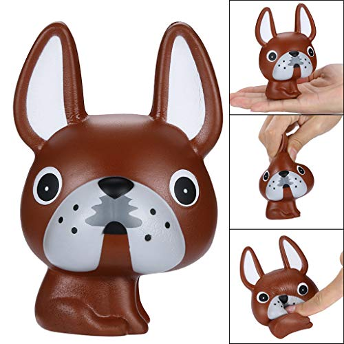 Dinlong Stress Reliever Squeeze Toys Cartoon Puppy Cream Scented Slow Rising Suitable for Children Adults (AS Show)