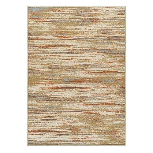 - Superior Striped Ashford Area Rug, 5' x 8', Rust
