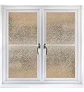 Coavas Decorative Rainbow Window Film Privacy Refraction Privacy Film Non-Adhesive Glass-Film 3D ...