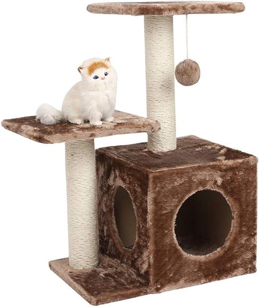 HXGL-Árboles para gatos Torre De Los Gatos Columpio Nido Sisal ...