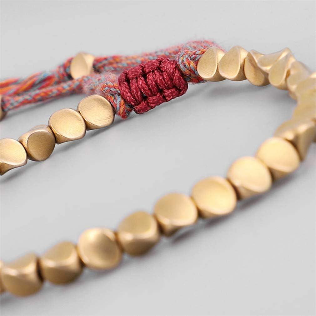 Handmade Tibetan Copper Bead Lucky Rope Bangles For Women Bracelets MenThread/'