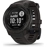 Garmin Instinct Rugged Outdoor Watch with GPS and Heart Rate Monitor (Graphite)