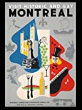 Visit Historical and Gay Montreal Canada Canadian Vintage Travel Advertisement Art Poster. Poster measures 10 x 13.5 inches