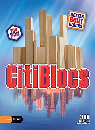 (CitiBlocs 300-Piece Natural-Colored Building Blocks)