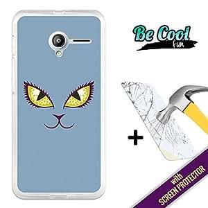 Becool® Fun- Funda Gel Flexible para Vodafone Smart Speed 6 [ +1 Protector Cristal Vidrio Templado ]Carcasa TPU fabricada con la mejor Silicona, protege y se adapta a la perfección a tu Smartphone y con nuestro exclusivo diseño Ojos de gato