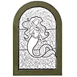 The Little Mermaid Ariel Wire Art in Distressed Frame, 12x18 Art Movies & TV