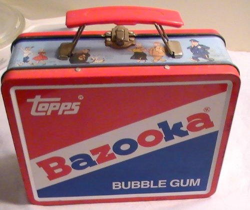 Vintage Topps Bazooka Bubble Gum Lunch Box Tin