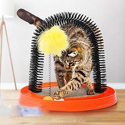 Bcrbcr55 Artículos para Mascotas Juguetes Gatos Cabello Rascarse Cepillo De Masaje Gato Picazón Artefacto Mascota Depilación Cepillo Placa Plato Giratorio ...