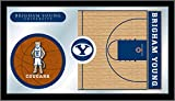 TeamBarStools.com Brigham Young Cougars Basketball Logo Mirror