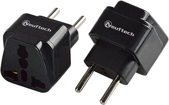 Neuftech® 2 x Universal de Viaje Conector Adaptador Travel Plug Enchufe UE Europa Alemania a UK EE. UU, China, Canadá, Japón, Tailandia, México, Filipinas, etc: Amazon.es: Electrónica