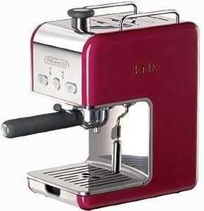 DeLonghi Kmix 15 Bars Pump Espresso Maker, Red