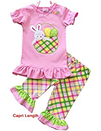 Boutique Girls Easter Bunny Outfit Clothing Set - Various Styles