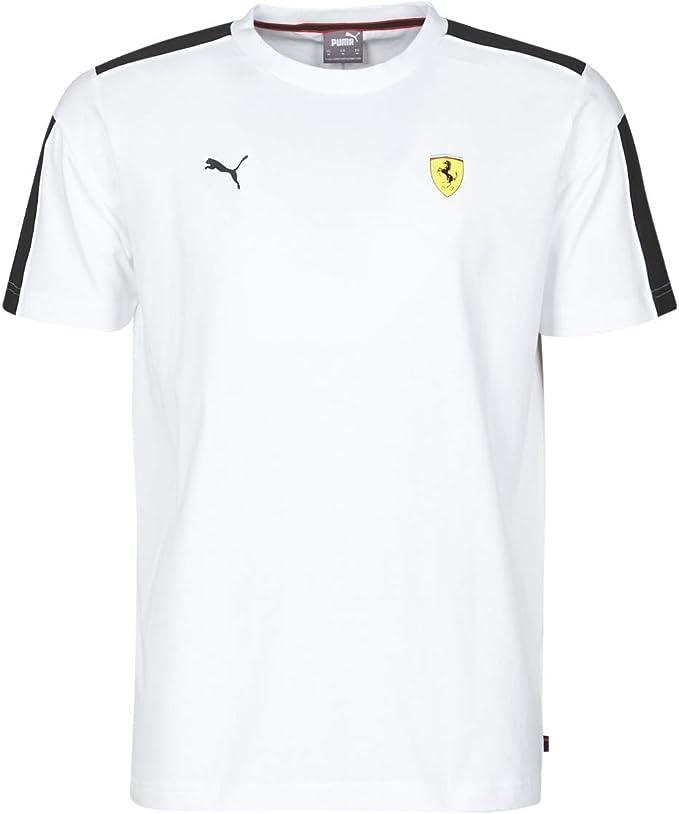 Amazon Com Puma Ferrari Race Graphic Tee T Shirts Polo Shirts Men Black White S Short Sleeved T Shirts Shirt Clothing
