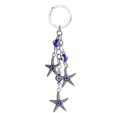 Scrox 1 Piezas Llavero Estrella de mar Llaveros para Mujer ...