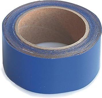 Wupsi Cinta de Reparación de PVC - para Lonas, Cubierta de Remolque, Invernadero, Toldo, Carpa, Tienda Campaña y Persianas - Azul, 5 Cm X 5 M