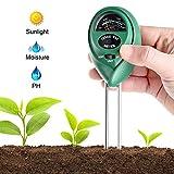 Soil pH Meter 3-in-1 Soil Test Kit For Moisture Light & pH A Must Have For Home And Garden Lawn Farm Plants Herbs & Gardening ToolsPlant Care Soil Tester (No Battery Needed)