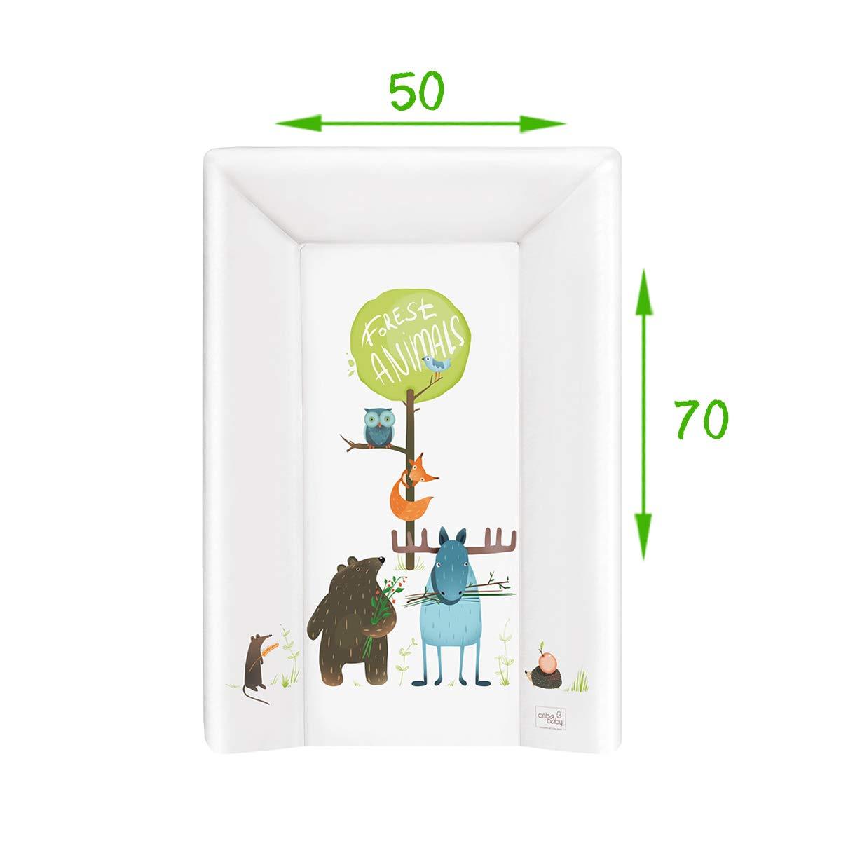 Wickelauflage Wickelunterlage Wickeltischauflage 2 Keil 70x50 cm Abwaschbar f/ür M/ädchen und Junge Animals 70x50