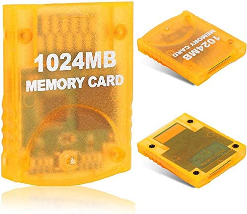 1024MB(16344 Blocks) Gamecube Memory Card for Nintendo Wii Game Cube NGC GC (Orange)