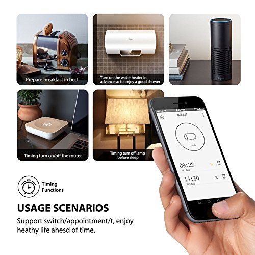 WiFi Smart Plug, Wireless Smart Outlet Socket Compatible With Alexa, Extra Dual USB Ports, Timing Function, Remote Control Your Devices Anywhere, Rotation Cap to Protect kid's Safety (2 Pack) by NewRice (Image #5)