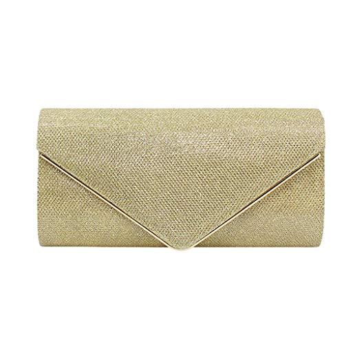Hot Sale Evening Bag ,Women's Ladies Fashion Square Color Intrigue Chain Clutch Envelope Evening Bag (Free, Gold)